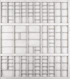 Lege houten witte geschilderde zaad of brieven of collectibles vakje royalty-vrije stock foto