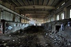 Lege industriële ruimte Stock Foto