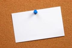 Lege kaart op een raad Stock Foto's
