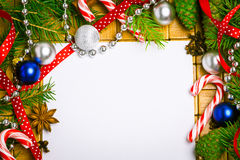 Lege kaart voor Kerstmisgroeten Stock Fotografie