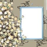 Leeg kader met bloemen Royalty-vrije Stock Afbeelding