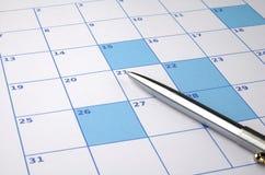Lege kalender Royalty-vrije Stock Afbeeldingen