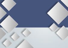 Lege kalme vierkanten met zachte schaduwen voor grafisch gebruik stock foto