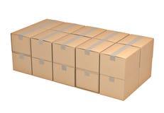 Lege kartonDoos Royalty-vrije Stock Foto