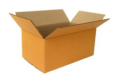 Lege kartonDoos Royalty-vrije Stock Afbeeldingen