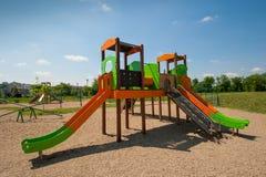 Lege kinderenspeelplaats Stock Fotografie