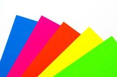 Lege kleurrijke document bladen Stock Foto