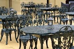 Lege koffie op het terras Royalty-vrije Stock Afbeelding