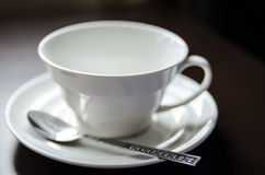 Lege kop van koffie Stock Afbeelding