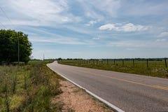 Lege landweg royalty-vrije stock foto's