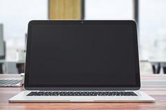 Lege laptop voorzijde Stock Foto's