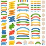 Lege lintvector en kenteken voor gebruik als banner vector illustratie