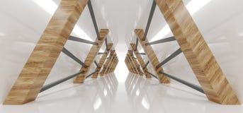 Lege Loong Modern Futuristic Interior Corridor-Zaal met Triang vector illustratie