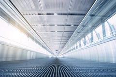 Lege luchthaven Skywalk Royalty-vrije Stock Fotografie