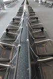 Lege luchthavenstoelen, royalty-vrije stock fotografie