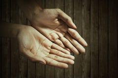 Lege mannelijke handen Royalty-vrije Stock Afbeeldingen