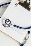 Lege medische vorm klaar om worden gebruikt Royalty-vrije Stock Foto's