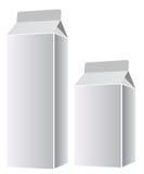 Lege melk of sappakketten Stock Fotografie
