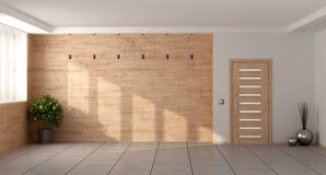 Lege minimalistische woonkamer Stock Foto's