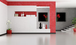 Lege minimalistische woonkamer Stock Afbeelding