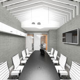 Lege moderne bureau binnenlandse vergaderzaal Royalty-vrije Stock Afbeelding