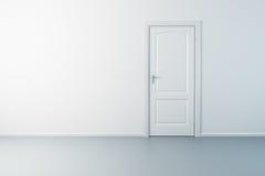 Lege nieuwe ruimte met deur royalty-vrije illustratie