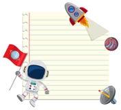 Lege nota met ruimteelement stock illustratie