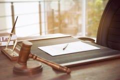 Lege notariswerkplaats royalty-vrije stock afbeelding
