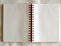 Lege notitieboekjepagina Stock Foto