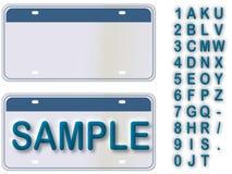 Lege Nummerplaat met Levende Teksten Editable vector illustratie