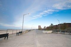 Lege oceaanpromenade van New York Royalty-vrije Stock Afbeelding
