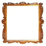 Lege omlijsting met amberpatroon Stock Afbeeldingen