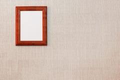 Lege omlijsting op de muur royalty-vrije stock foto's