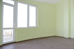 Lege onlangs geschilderde ruimte Stock Foto