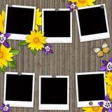 Lege onmiddellijke fotoframes Royalty-vrije Stock Afbeeldingen