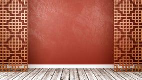 Lege Oosterse Stijlzaal met Copyspace royalty-vrije illustratie