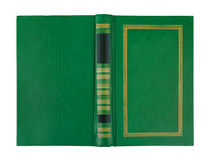 Lege open groene boekdekking royalty-vrije stock foto's