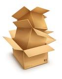 Lege open kartondozen stock illustratie