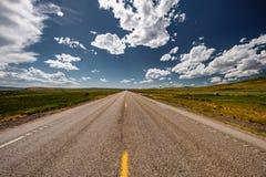 Lege open weg in Wyoming Royalty-vrije Stock Afbeelding