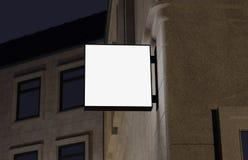 Lege, openluchtsignage, uithangbordmodel, teken het 3d teruggeven Stock Fotografie