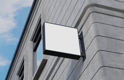 Lege, openluchtsignage, uithangbordmodel, teken het 3d teruggeven Stock Afbeelding