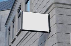 Lege, openluchtsignage, uithangbordmodel, teken het 3d teruggeven Stock Afbeeldingen