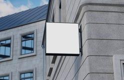 Lege, openluchtsignage, uithangbordmodel, teken het 3d teruggeven Royalty-vrije Stock Afbeelding
