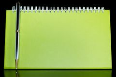 Lege organisator met pen Royalty-vrije Stock Afbeeldingen