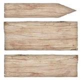 Lege oude doorstane lichte houten tekens royalty-vrije stock fotografie