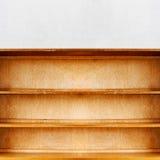 Lege oude retro houten boekenplank Royalty-vrije Stock Foto