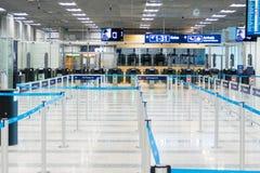 Lege paspoortcontrole bij de luchthaven royalty-vrije stock afbeeldingen