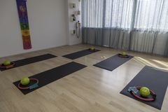 Lege pilatess en hervormerklasse Stock Afbeeldingen