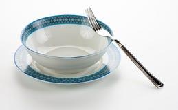 Lege plaat met een vork Royalty-vrije Stock Fotografie