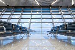 Lege plaatsing bij de luchthaven Stock Afbeeldingen